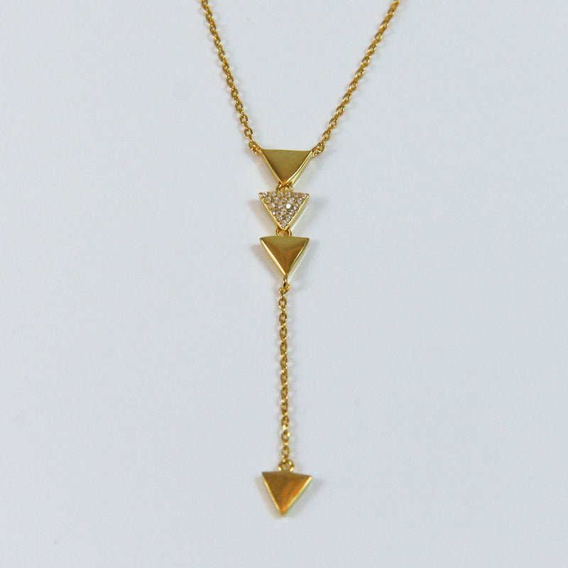 Geometric Triangle Pendant - by Galia