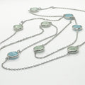 Light Ocean Dots Necklace - by Galia