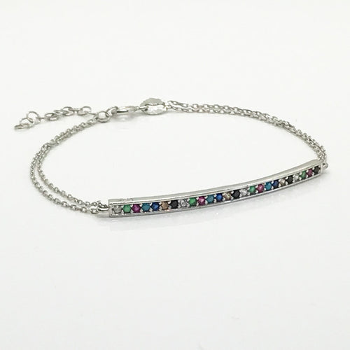 Rainbow Bar Bracelet - by Galia