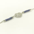 Blue Beads Heart Bracelet - by Galia