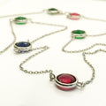 Tricolor Circle Necklace - by Galia