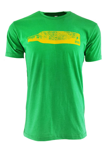 Green Skyline Bottle Tee