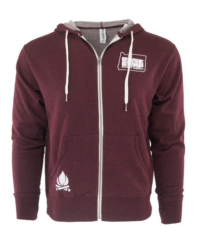 Base Camp Zip Up (Burgundy)