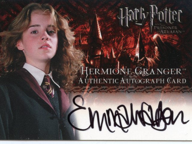 Emma Watson as Hermione Granger in Harry Potter and The Prisoner of Azkaban Autograph Card