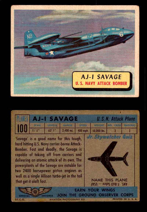 1957 Planes Series II Topps Vintage Card You Pick Singles #61-120 #100  - TvMovieCards.com