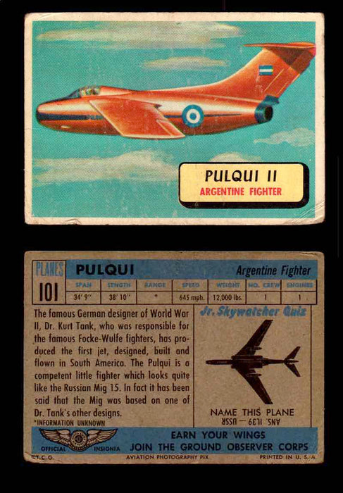 1957 Planes Series II Topps Vintage Card You Pick Singles #61-120 #101  - TvMovieCards.com