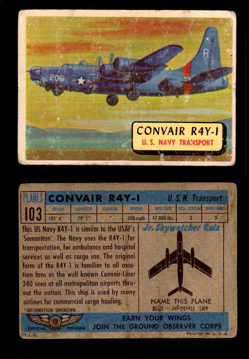 1957 Planes Series II Topps Vintage Card You Pick Singles #61-120 #103  - TvMovieCards.com