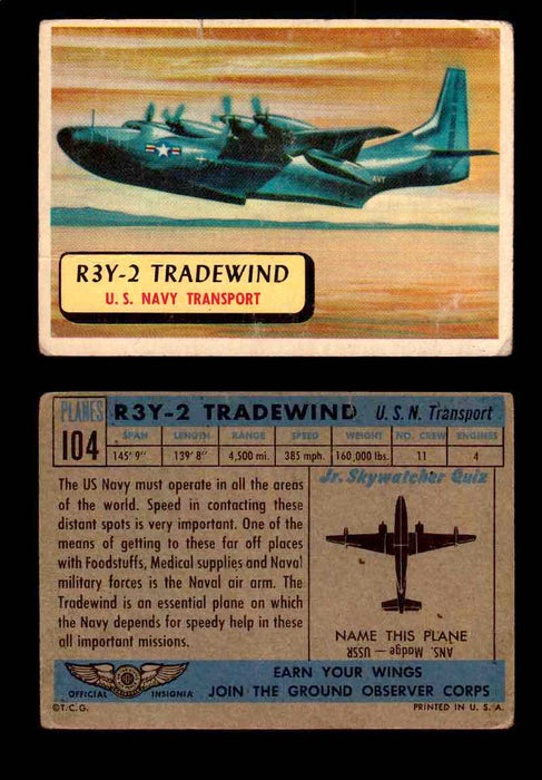 1957 Planes Series II Topps Vintage Card You Pick Singles #61-120 #104  - TvMovieCards.com