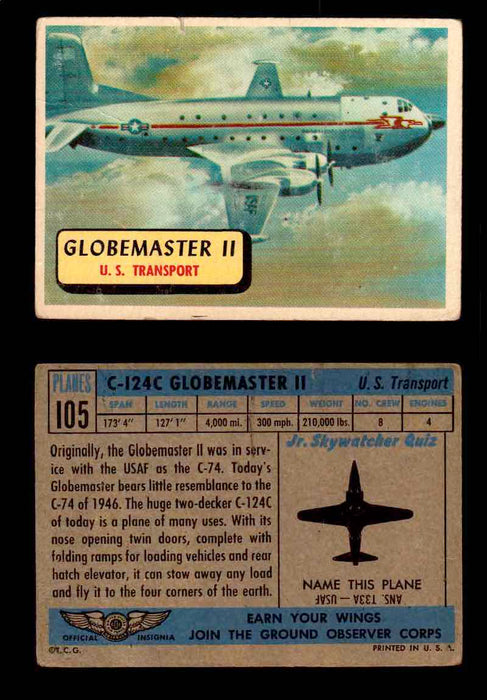 1957 Planes Series II Topps Vintage Card You Pick Singles #61-120 #105  - TvMovieCards.com