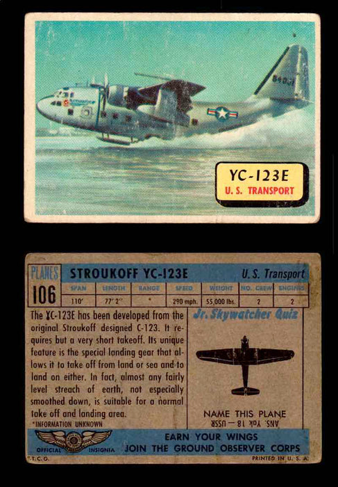 1957 Planes Series II Topps Vintage Card You Pick Singles #61-120 #106  - TvMovieCards.com