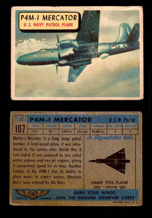 1957 Planes Series II Topps Vintage Card You Pick Singles #61-120 #107  - TvMovieCards.com