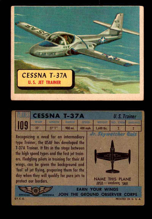 1957 Planes Series II Topps Vintage Card You Pick Singles #61-120 #109  - TvMovieCards.com