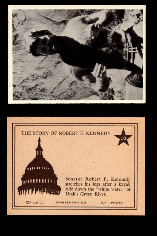 1968 The Story of Robert F. Kennedy JFK PCGC Trading Card You Pick Singles #1-66 #10  - TvMovieCards.com