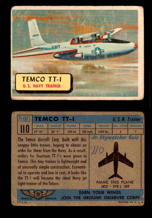 1957 Planes Series II Topps Vintage Card You Pick Singles #61-120 #110  - TvMovieCards.com
