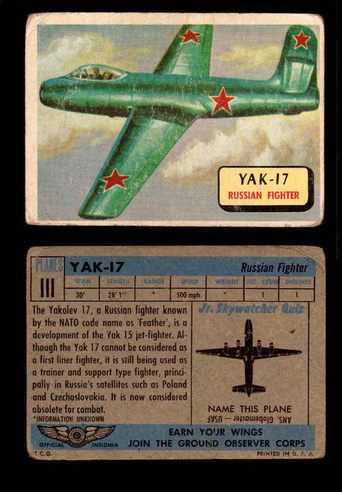 1957 Planes Series II Topps Vintage Card You Pick Singles #61-120 #111  - TvMovieCards.com