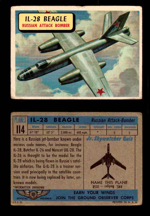 1957 Planes Series II Topps Vintage Card You Pick Singles #61-120 #114  - TvMovieCards.com