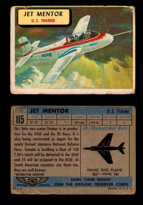 1957 Planes Series II Topps Vintage Card You Pick Singles #61-120 #115  - TvMovieCards.com