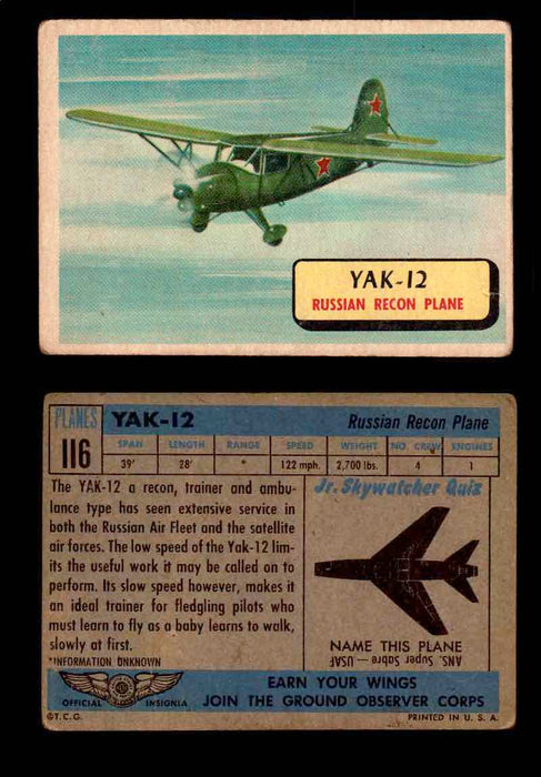 1957 Planes Series II Topps Vintage Card You Pick Singles #61-120 #116  - TvMovieCards.com