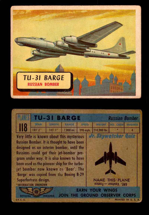 1957 Planes Series II Topps Vintage Card You Pick Singles #61-120 #118  - TvMovieCards.com