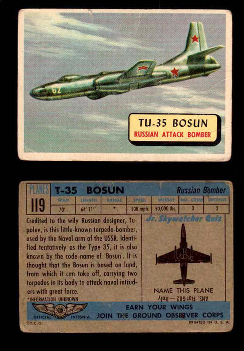 1957 Planes Series II Topps Vintage Card You Pick Singles #61-120 #119  - TvMovieCards.com