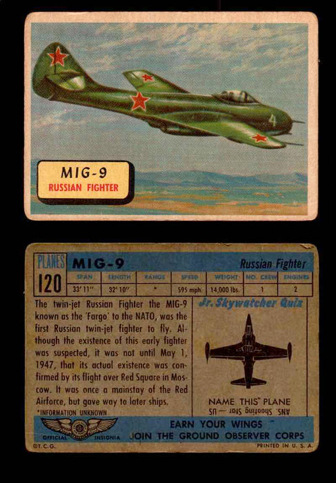 1957 Planes Series II Topps Vintage Card You Pick Singles #61-120 #120  - TvMovieCards.com