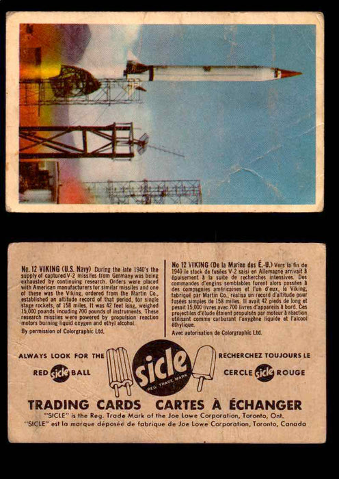 1959 Sicle Aircraft & Missile Canadian Vintage Trading Card U Pick Singles #1-25 #12 Viking  - TvMovieCards.com