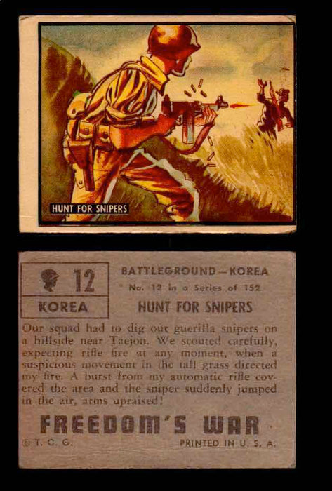 1950 Freedom's War Korea Topps Vintage Trading Cards You Pick Singles #1-100 #12  - TvMovieCards.com