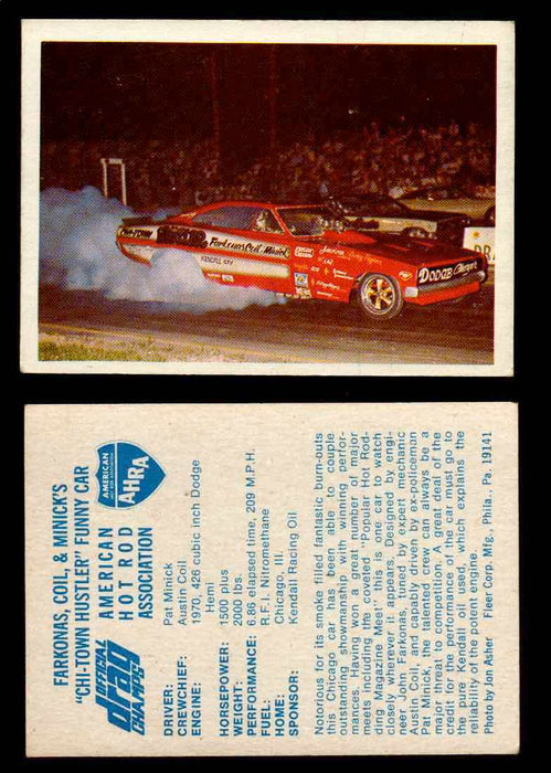 "AHRA Official Drag Champs 1971 Fleer Vintage Trading Cards You Pick Singles 13 Farkonas Coil & Minick's ""Chi-Town Hustler"" Funny Car  - TvMovieCards.com"