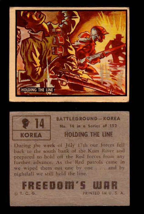 1950 Freedom's War Korea Topps Vintage Trading Cards You Pick Singles #1-100 #14  - TvMovieCards.com