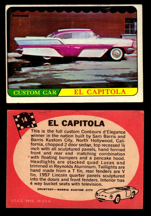 Hot Rods Topps 1968 George Barris Vintage Trading Cards You Pick Singles #14 El Capitola  - TvMovieCards.com