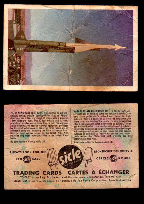 1959 Sicle Aircraft & Missile Canadian Vintage Trading Card U Pick Singles #1-25 #14 Nike Ajax  - TvMovieCards.com