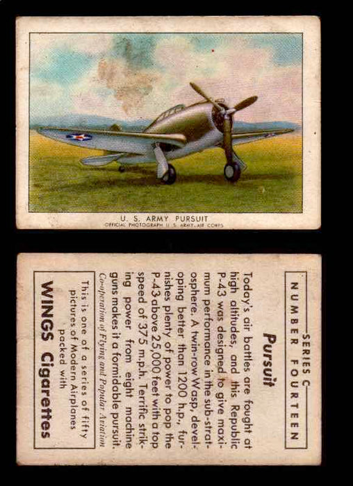1942 Modern American Airplanes Series C Vintage Trading Cards Pick Singles #1-50 14	 	U.S. Army Pursuit  - TvMovieCards.com