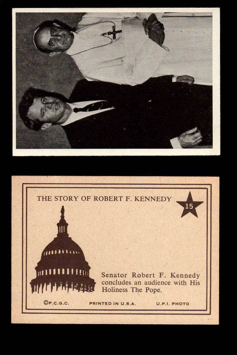 1968 The Story of Robert F. Kennedy JFK PCGC Trading Card You Pick Singles #1-66 #15  - TvMovieCards.com
