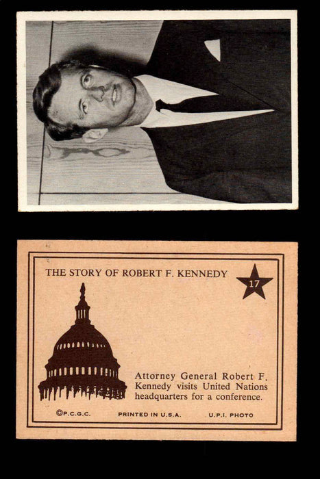 1968 The Story of Robert F. Kennedy JFK PCGC Trading Card You Pick Singles #1-66 #17  - TvMovieCards.com