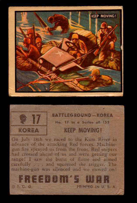 1950 Freedom's War Korea Topps Vintage Trading Cards You Pick Singles #1-100 #17  - TvMovieCards.com