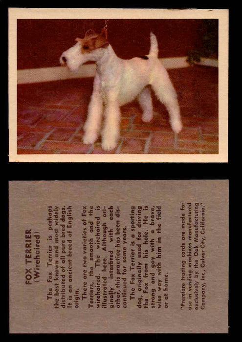 1957 Dogs Premiere Oak Man. R-724-4 Vintage Trading Cards You Pick Singles #1-42 #18 Fox Terrier (Wirehaired)  - TvMovieCards.com