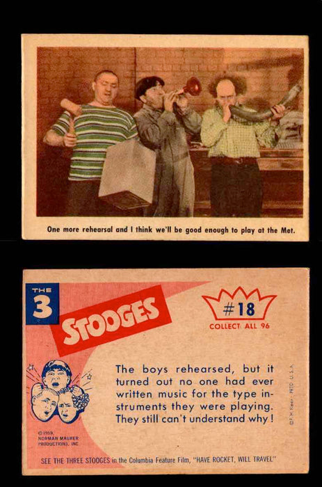 1959 Three 3 Stooges Fleer Vintage Trading Cards You Pick Singles #1-96 #18  - TvMovieCards.com