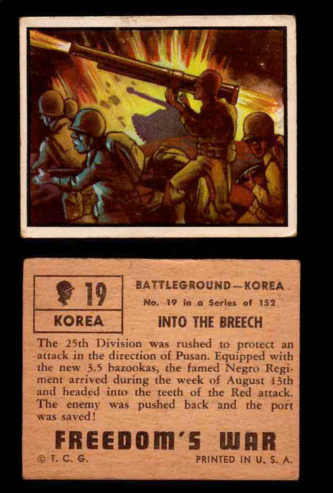 1950 Freedom's War Korea Topps Vintage Trading Cards You Pick Singles #1-100 #19  - TvMovieCards.com