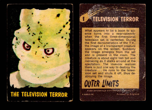 1964 Outer Limits Bubble Inc Vintage Trading Cards #1-50 You Pick Singles #1  - TvMovieCards.com