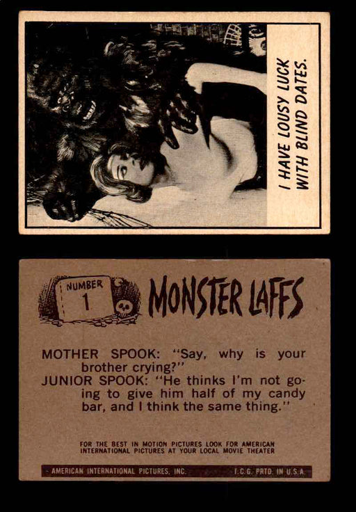 Monster Laffs 1966 Topps Vintage Trading Card You Pick Singles #1-66 #1  - TvMovieCards.com