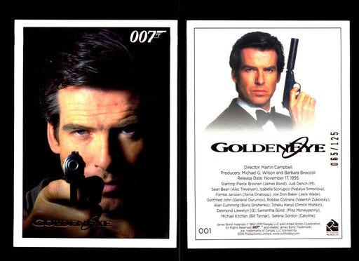 James Bond Archives 2015 Goldeneye Gold Parallel Card You Pick Number #1  - TvMovieCards.com