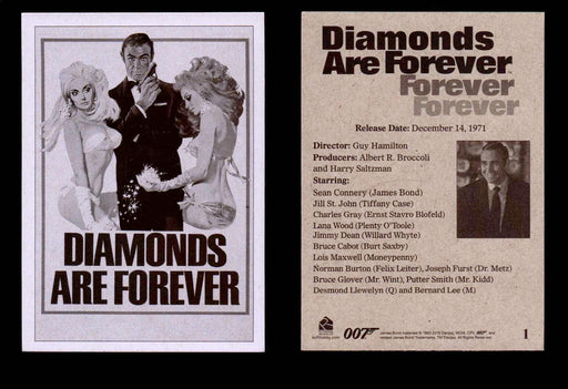 James Bond Archives Spectre Diamonds Are Forever Throwback Single Cards #1-48 #1  - TvMovieCards.com