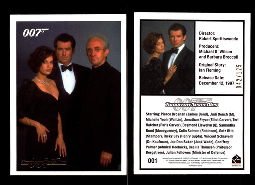 James Bond Archives 2014 Tomorrow Never Dies Gold Parallel Card You Pick Number #1  - TvMovieCards.com