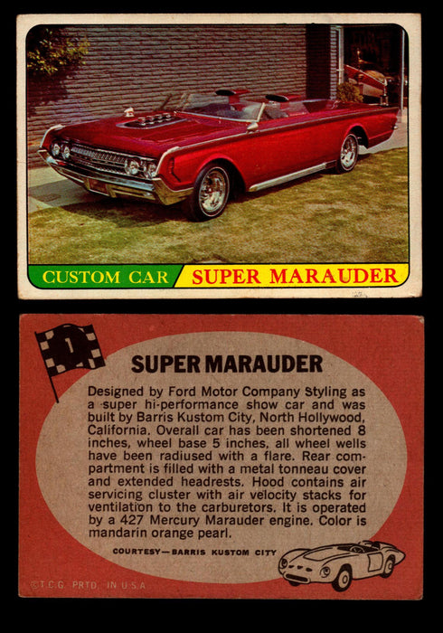 Hot Rods Topps 1968 George Barris Vintage Trading Cards You Pick Singles #1 Super Marauder  - TvMovieCards.com