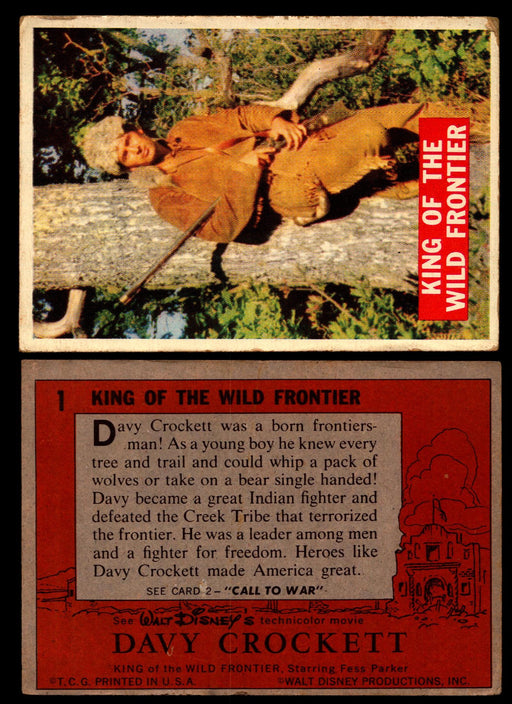 Davy Crockett Series 1 1956 Walt Disney Topps Vintage Trading Cards You Pick Sin #1  - TvMovieCards.com
