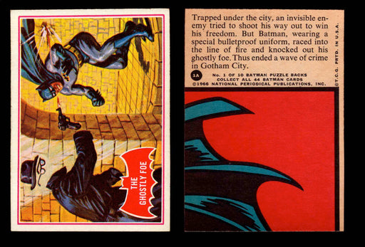 1966 Batman Series A (Red Bate) Vintage Trading Card You Pick Singles #1A-44A #1  - TvMovieCards.com
