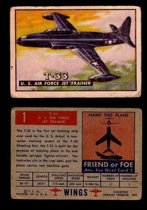 1952 Wings Topps TCG Vintage Trading Cards You Pick Singles #1-100 #1  - TvMovieCards.com