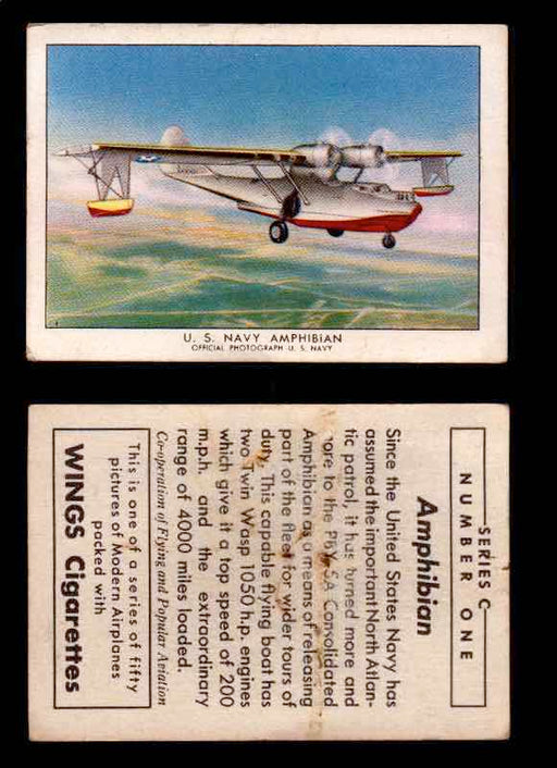 1942 Modern American Airplanes Series C Vintage Trading Cards Pick Singles #1-50 1	 	U.S. Navy Amphibian  - TvMovieCards.com