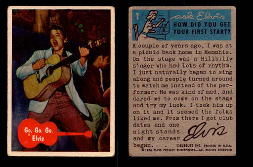 1956 Elvis Presley Topps Bubble Inc Vintage Trading Cards You Pick Singles #1-66 #1  - TvMovieCards.com