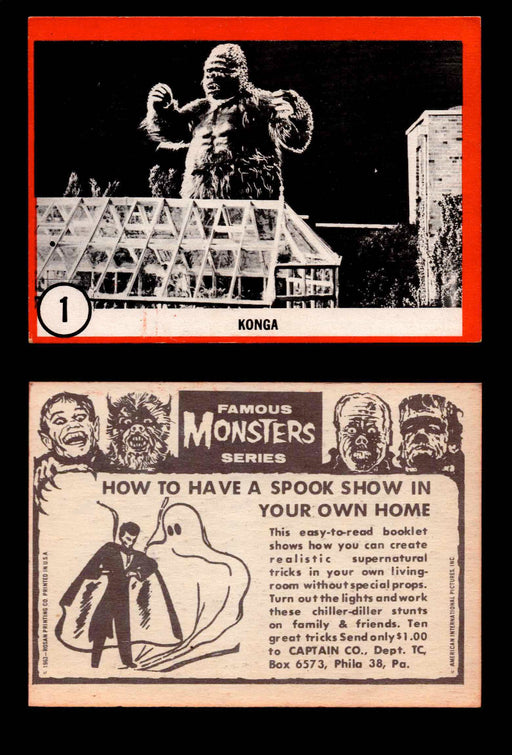Famous Monsters 1963 Vintage Trading Cards You Pick Singles #1-64 #1  - TvMovieCards.com